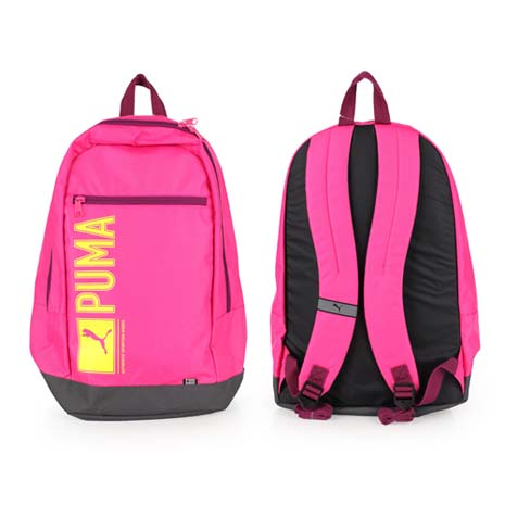 【PUMA】PIONEER後背包-雙肩包 肩背包 18吋筆電 粉紅黃