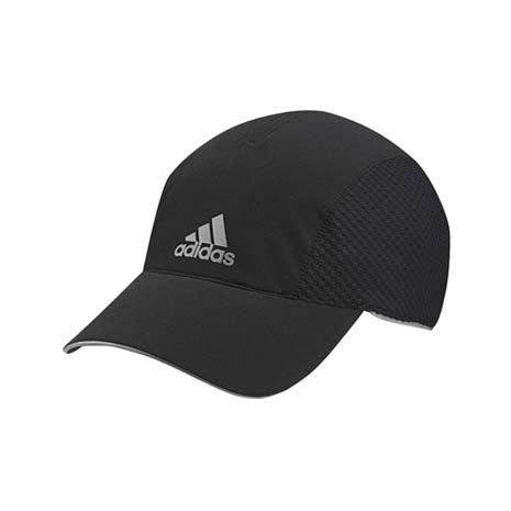 【ADIDAS】排汗慢跑帽 -路跑 帽子 扁帽 鴨舌帽 防曬 愛迪達 黑銀