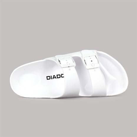 【DIADORA】女拖鞋-游泳 戲水 休閒 白黑