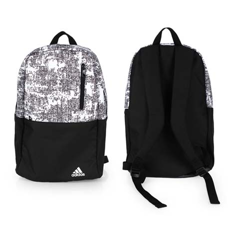 【ADIDAS】運動後背包 -雙肩包 肩背包 18吋筆電 愛迪達 黑白