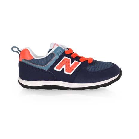 【NEWBALANCE】WIDE 574系列 男女兒童復古休閒鞋-寬楦 NB 丈青橘