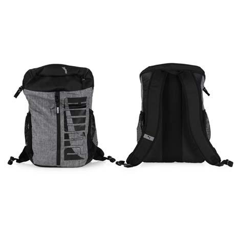 【PUMA】DECK 後背包 -雙肩包 肩背包 18吋筆電 黑灰