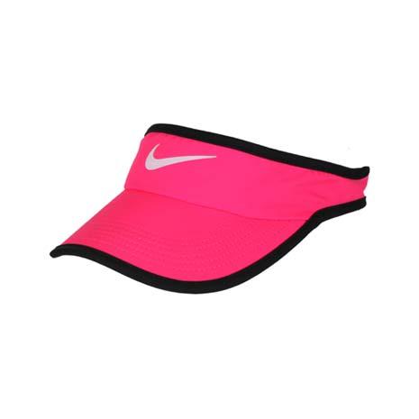 【NIKE】運動帽 -中空帽 遮陽 高爾夫 帽子 路跑 慢跑 螢光粉黑
