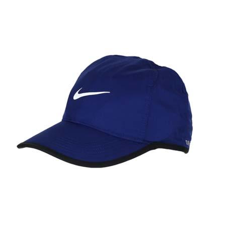 【NIKE】運動帽 -路跑 慢跑 帽子 棒球帽 鴨舌帽 防曬 深藍白