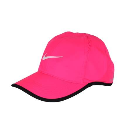 【NIKE】運動帽 -路跑 慢跑 帽子 棒球帽 鴨舌帽 防曬 螢光粉黑