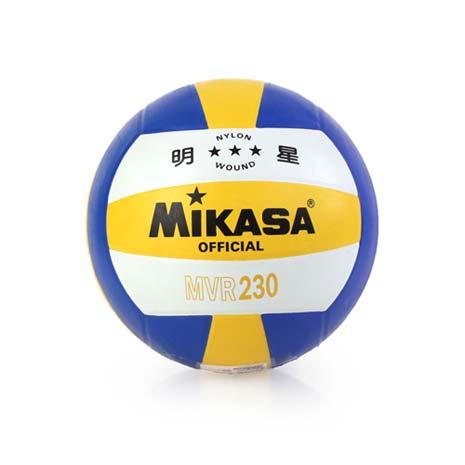 【MIKASA】彩膠排球 MVR230-5號球 黃藍白