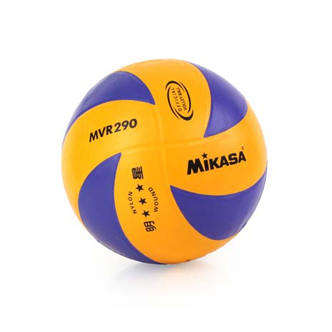 【MIKASA】彩膠排球 -5號球 藍橘