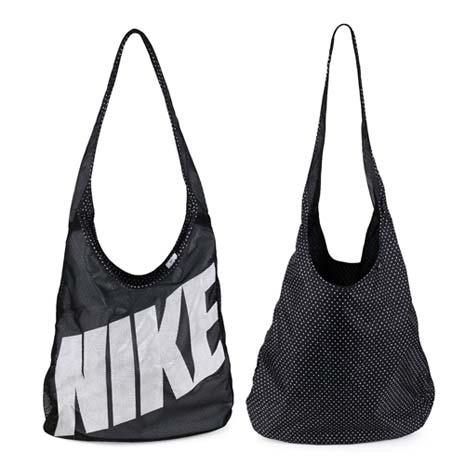 【NIKE】圖案雙面托特包 -肩背包 手提包 黑灰
