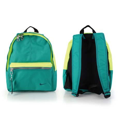 【NIKE】男女兒童經典後背包-雙肩包 螢光黃綠