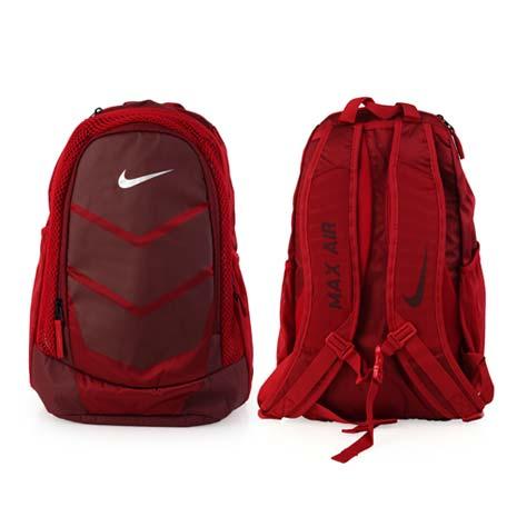【NIKE】VAPOR SPEED 氣墊雙肩後背包 -登山 旅行 13吋筆電 紅暗紅