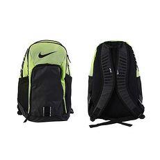 ~NIKE~TEAM TRAINING 氣墊後背包 ~雙肩包 登山 旅行包 黑螢光綠