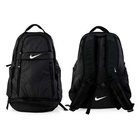 【NIKE】菁英後背包-雙肩包 17吋筆電 黑白