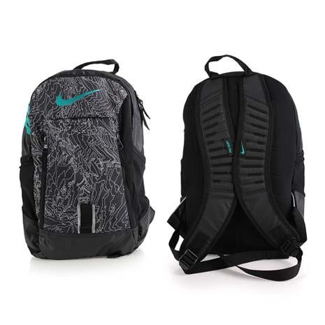 【NIKE】後背包-雙肩包 旅行包 17吋筆電 黑灰