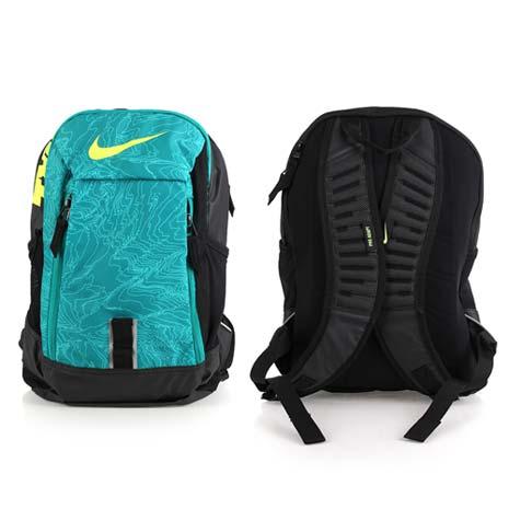 【NIKE】後背包-雙肩包 旅行包 17吋筆電 綠黑