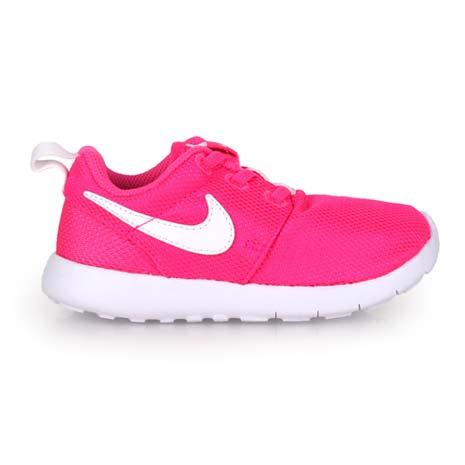 【NIKE】ROSHE ONE -PSV 女兒童運動鞋 - 童鞋 慢跑 粉白
