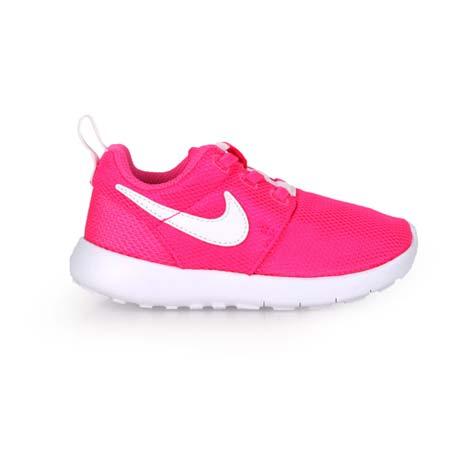 【NIKE】ROSHE ONE -TDV 女嬰童運動鞋 - 童鞋 慢跑 粉白