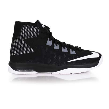 【NIKE】AIR DEVOSION -GS 女高筒籃球鞋 黑白