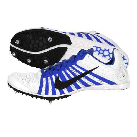 【NIKE】ZOOM D 男女田徑釘鞋 - 中距離 白藍黑