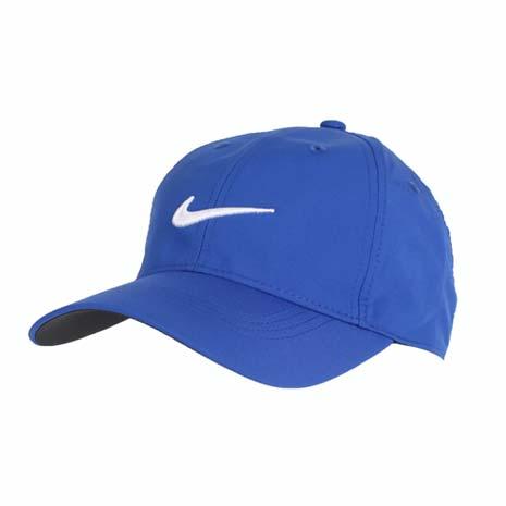 【NIKE】GOLF 高爾夫運動帽-高爾夫球 帽子 鴨舌帽 防曬 寶藍白