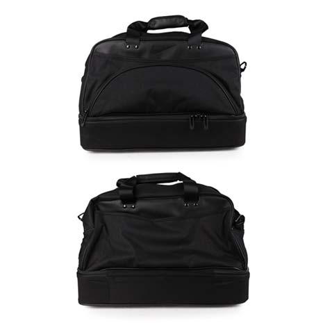 【NIKE】GOLF 高爾夫衣物包- 旅行袋 手提袋 黑銀