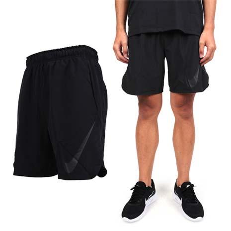 【NIKE】男梭織短褲-運動褲 路跑 慢跑 健身 黑灰