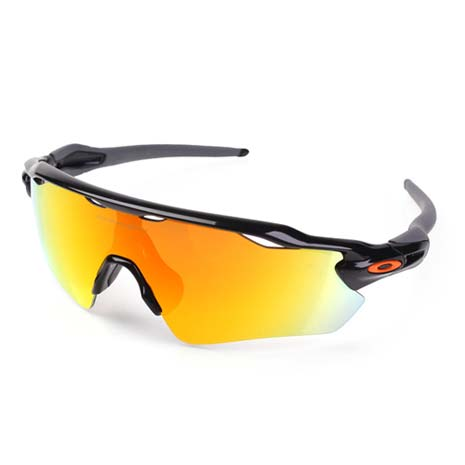 【OAKLEY】RADAR EV - 太陽眼鏡 慢跑 登山 抗UV 灰橘