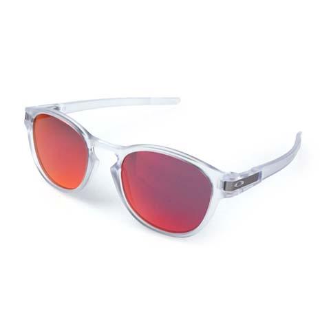 【OAKLEY】LATCH 運動休閒太陽眼鏡 - 附鏡袋無鼻墊 慢跑 透明紅