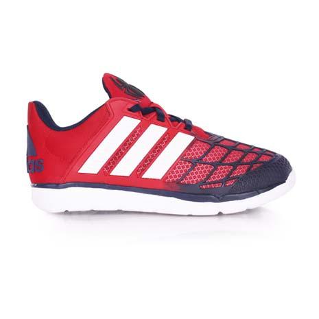 【ADIDAS】MARVEL SPIDER-MAN K 男女中童慢跑鞋-愛迪達 紅藍白