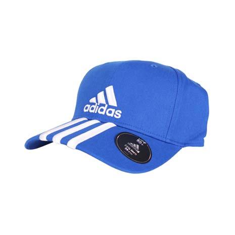 【ADIDAS】運動帽-路跑 慢跑 帽子 棒球帽 鴨舌帽 防曬 愛迪達 藍白