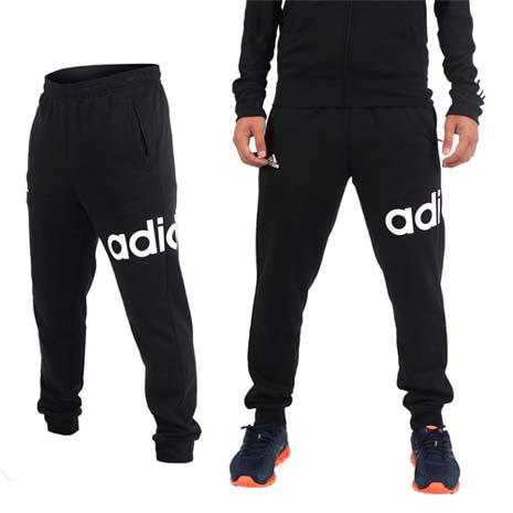 【ADIDAS】男運動長褲 - 刷毛 路跑 慢跑 愛迪達 黑白