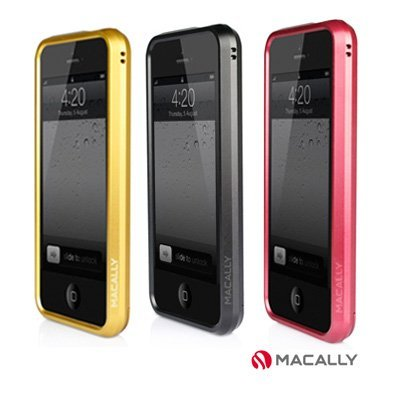 【Macally】 iPhone5 /5S SE 超薄免螺絲鋁合金 金屬 邊框保護殼