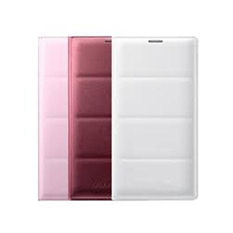 原廠 SAMSUNG GALAXY Note4 皮革插卡書本式皮套-白
