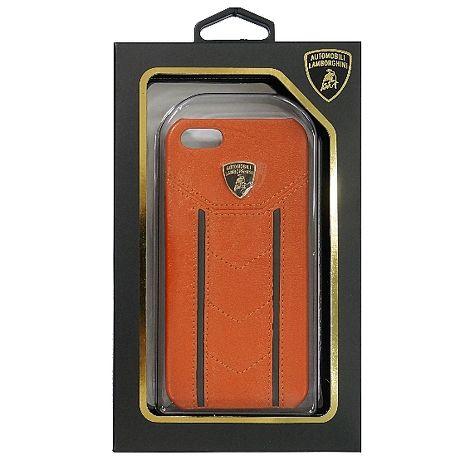 【藍寶堅尼】Gallardo D1 橘色黑直紋真皮背蓋- iPhone5/5S/SE +【LOVE】愛心桌上收納座 紅/粉