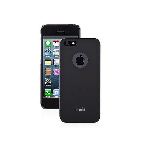 【Moshi 】超薄時尚保護背殼 黑色 iphone5 /S SE +【LOVE】愛心桌上收納座 紅/粉
