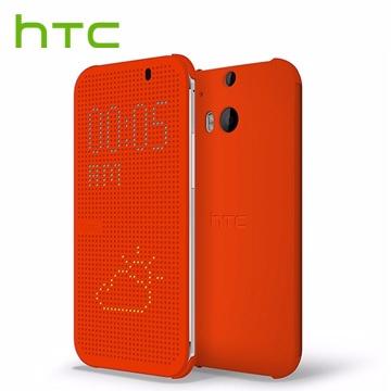 【HTC原廠】FOR E8 & M8 ACE 炫彩顯示保護套 - 橘色