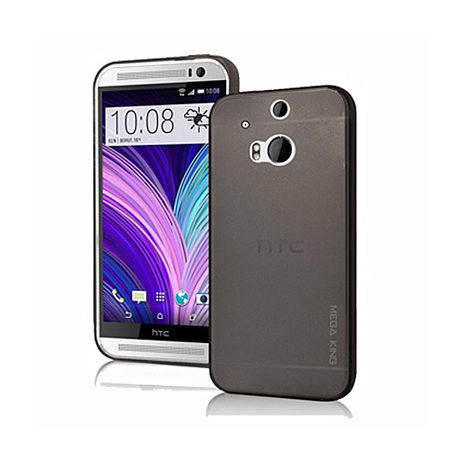 MEGA KING氣泡雙料背蓋-New HTC ONE M8 + 超細纖維手機擦拭袋