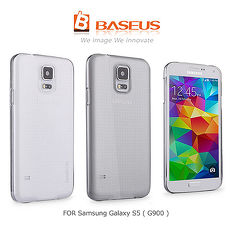 ~BASEUS~ 倍思逸透系列背蓋~Samsung S5 透明  超細纖維手機擦拭袋