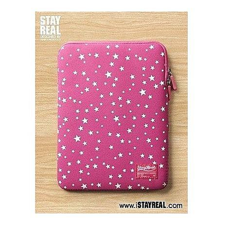 【STAYREAL】收藏星空平板包 桃紅 +【Gourmandise】Hello Kitty造型款立體聲耳機-粉嫩甜心