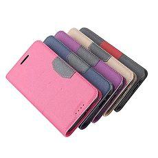 繽紛撞色側翻皮套~HTC One E9 Plus 金 ~Hoobbe~口香糖 立架~綠粉紅