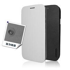 SKINTWO 極致側翻皮套~HTC Desire 816 白色 ~iCushion~耳機