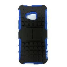 折疊式手機支架背蓋 HTC One M9 黑藍  超細纖維手機擦拭袋