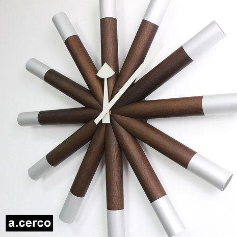 【a.cerco】經典木製舵輪掛鐘