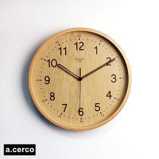 ~a.cerco~自然風木紋掛鐘 淺木紋