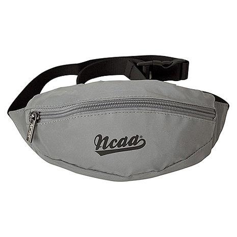 NCAA後背包 反光防潑水運動小腰包_銀灰色
