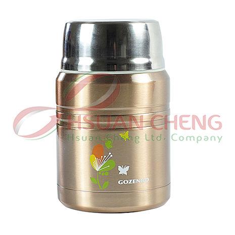 御膳坊 花碟悶燒真空食物罐500ML(香檳,玫瑰紅)  再送 1000cc大容量不銹鋼保溫瓶