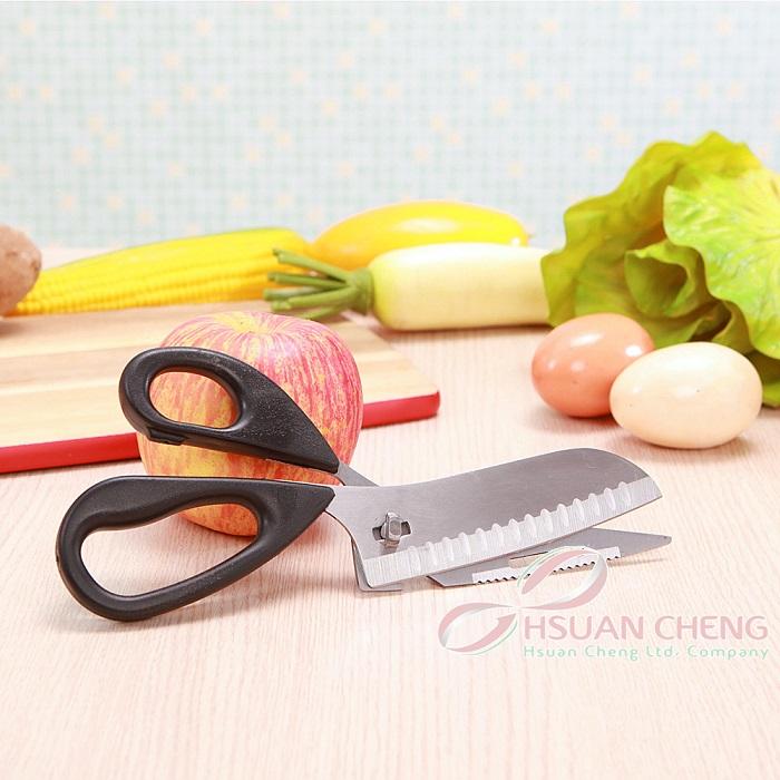 多功能二合一剪刀 開罐 切菜