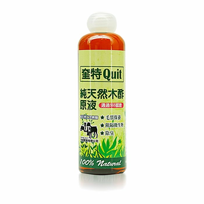 【來福】奎特Quit 純天然木酢原液 (260ml/瓶)