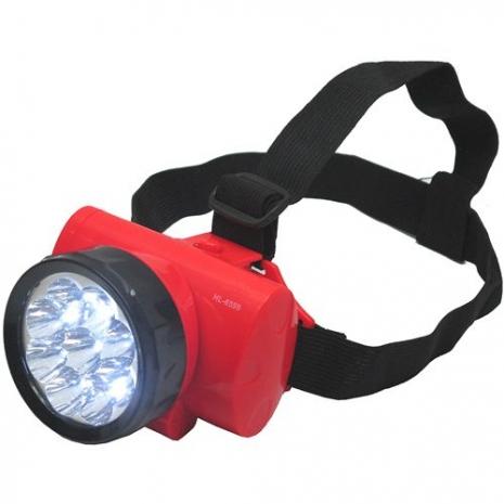 充電式優質頭戴9LED超白光2段高亮度頭燈桌燈工作燈(HL-6599)