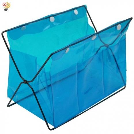 月陽色彩繽紛PVC迷你桌上型雜誌架置物架收納盒超值2入(338)