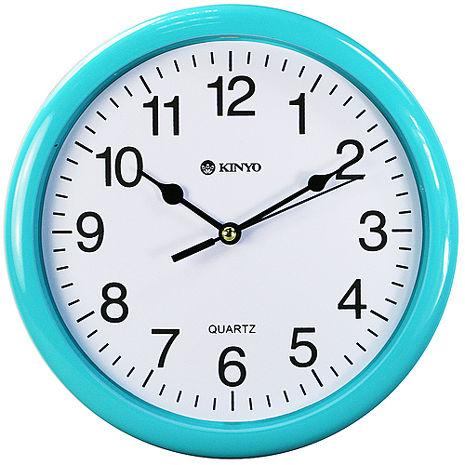 ~特價~KINYO圓形精緻8吋掃秒靜音掛鐘(CL-108)